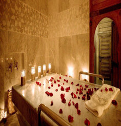Rose moroccan bath massage
